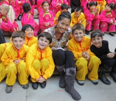 with Students at San Francisco's Chinese New Year Parade, 2013