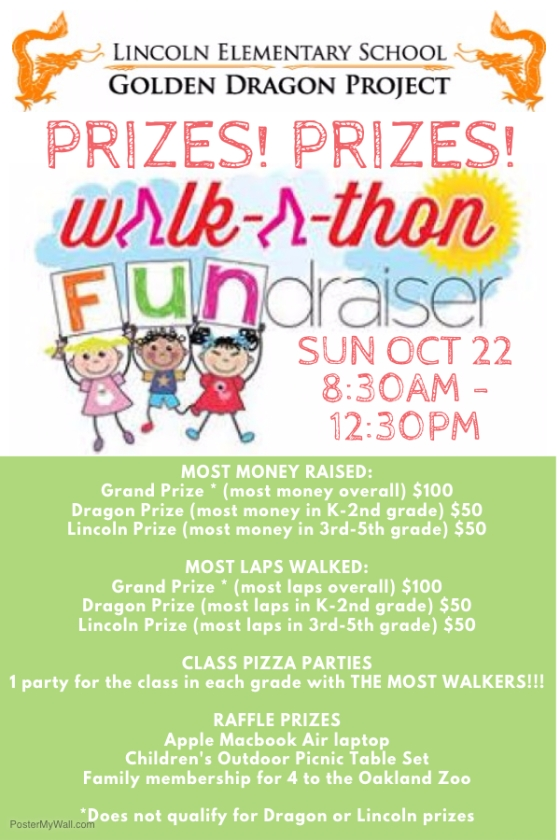 WALK A THON 2017 POSTER ENGLISH